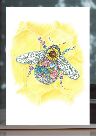 Blossom Bee Greeting Card