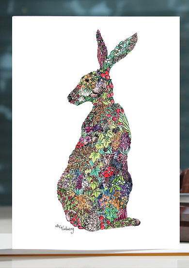 Winter Hare Greeting Card