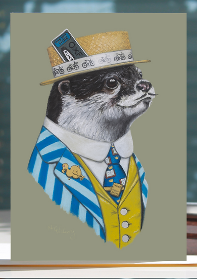 Alma Mater Otter Greeting Card