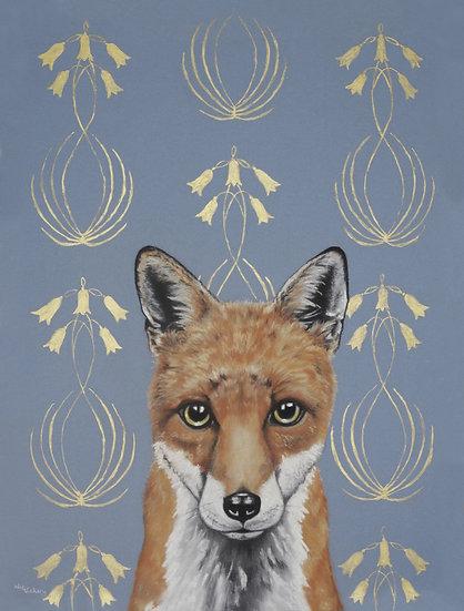 Art Nouveau Fox Postcard