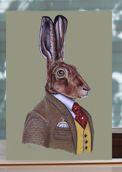 Long Eared Gent Greeting Card