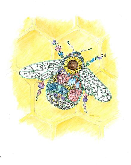 Blossom Bee Giclée Print