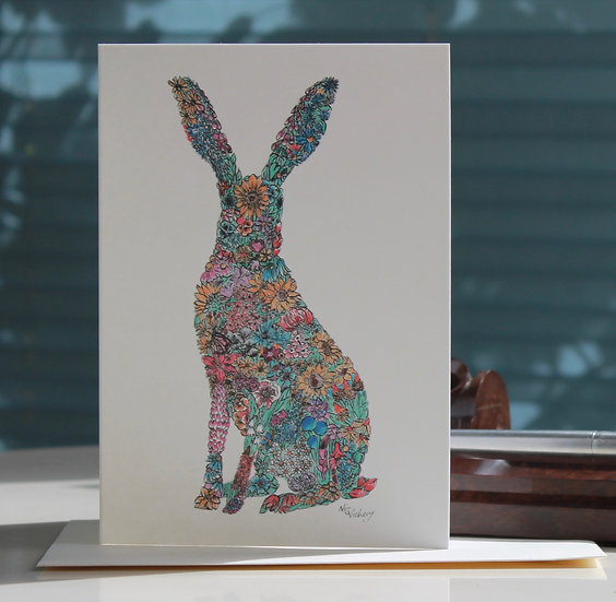 Sumnor Hare Greeting Card