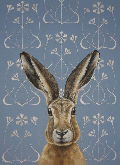Art Nouveau Hare Postcard