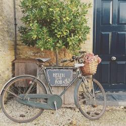 Vintage Bike all set for a Cotswold Wedd