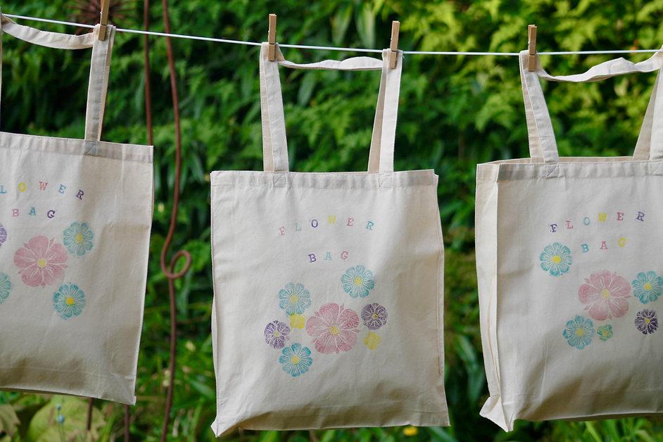 Lino-print Flower Bags.jpeg