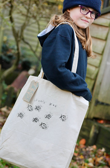 'School Bag' Cotton Tote Bag