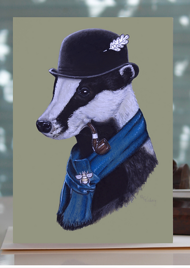 Badger In A Bowler Greeting Card