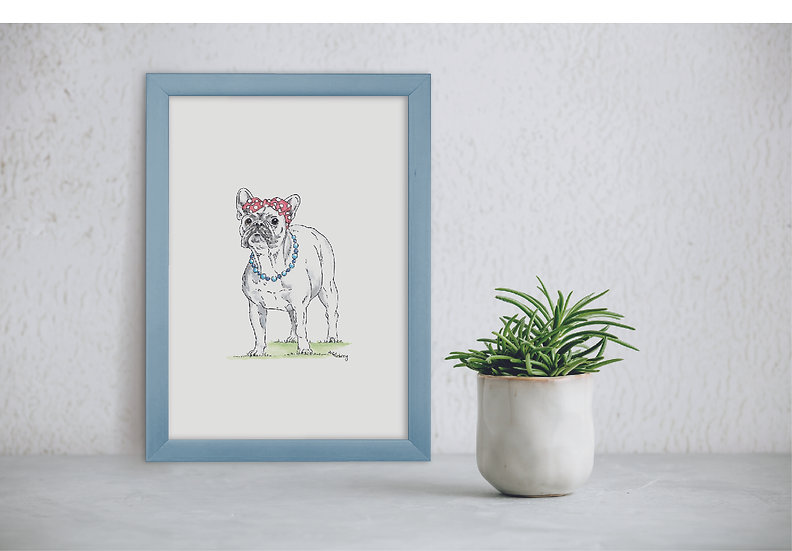 Mademoiselle Frenchie Print