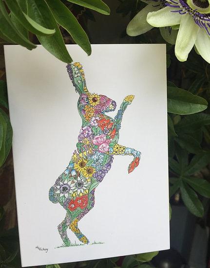 Wef Fehtan Hare Greeting Card