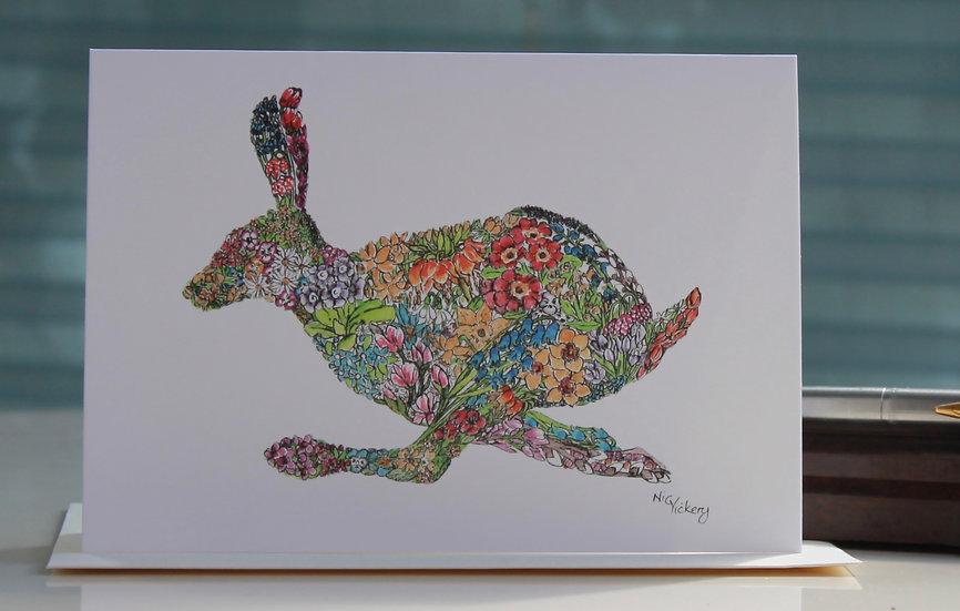 Lencten Hare Greeting Card