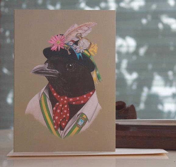 Morris Magpie Greeting Card