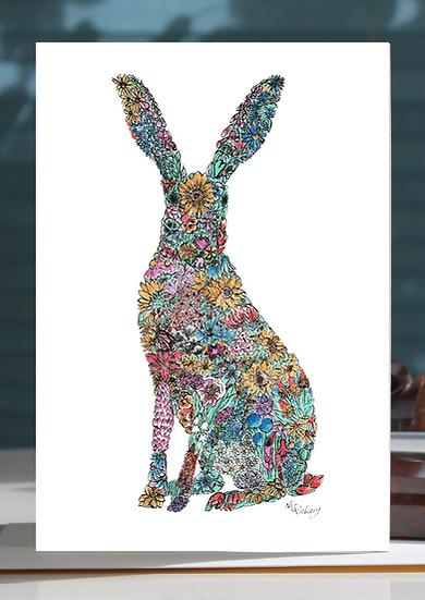 Sumnor Hare Greeting Card