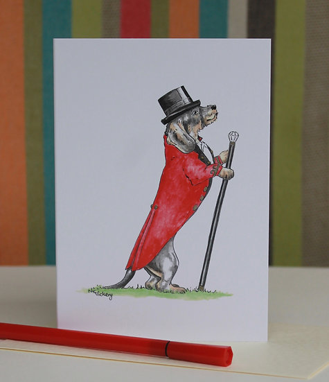 The Greatest Dachshund greeting card