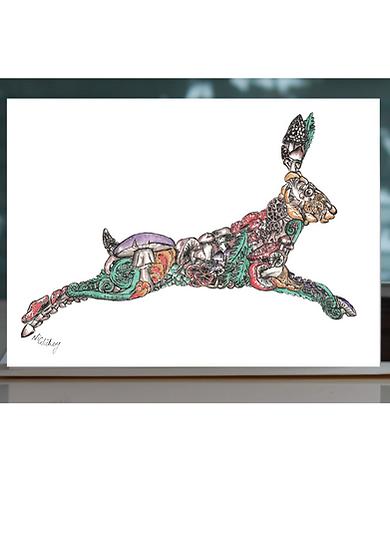 Haerfest Hare Greeting Card