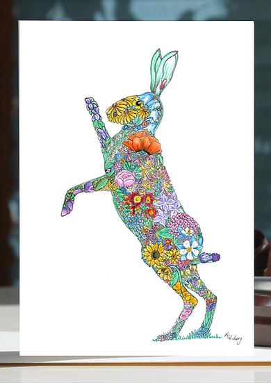 Wer Fheten Hare Greeting Card