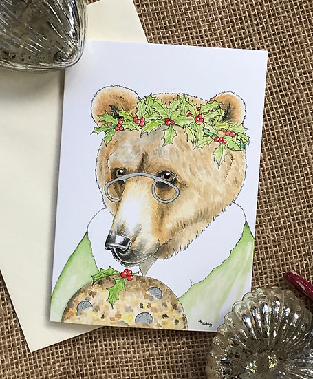 Mother Christmas Bear Card