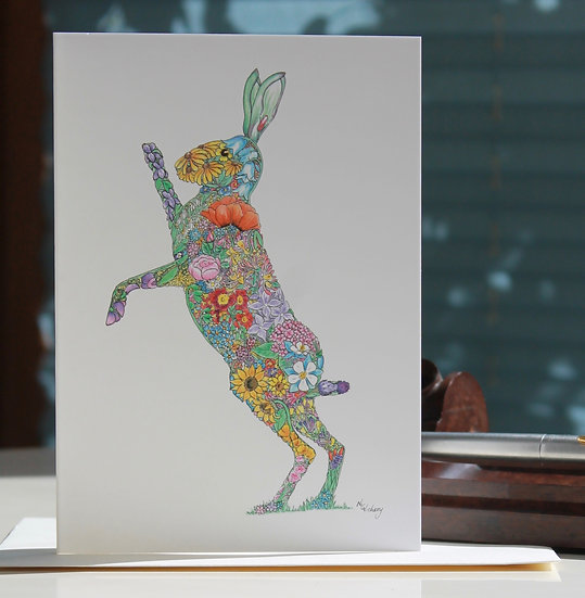 Wer Fhetan Hare Greeting Card