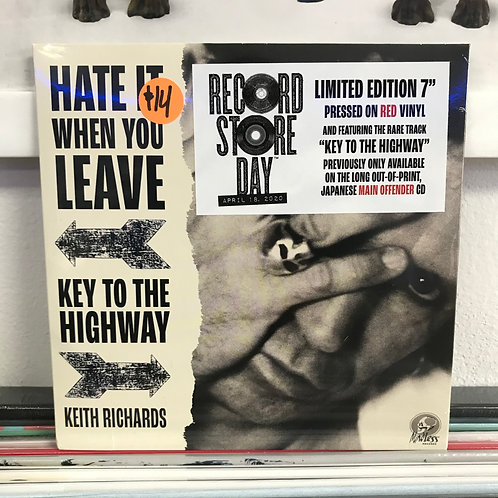 Keith Richards – Hate It When You Leave / Key To The Highway