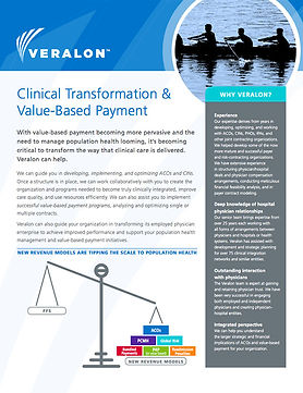 Healthcare value-based payment sell sheet