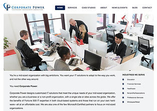 Technology consulting website copy and images