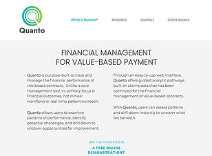 Healthcare financial management website copy