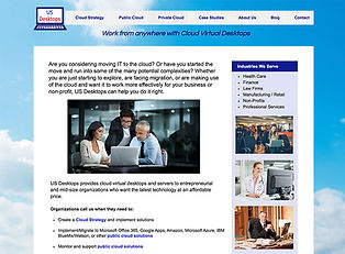 Website copy for technology consulting company