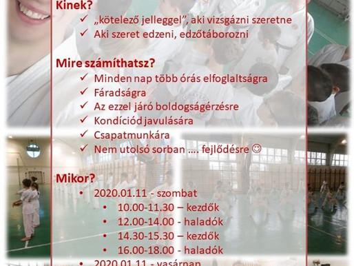 KAKUSEI TÉLI EDZŐTÁBOR 2020.01.10-2020.01.12
