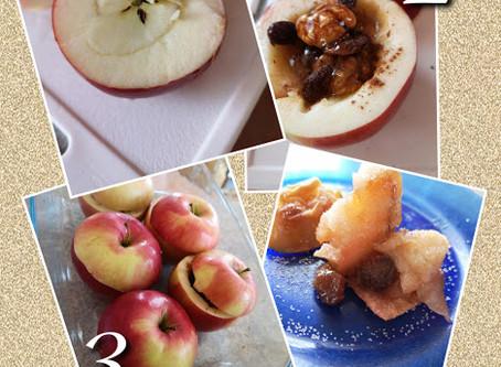 Mézes-diós-fahéjas sült alma