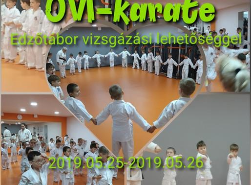 OVI-karate: Bejárós Tábor vizsgázási lehetőséggel (2019 május)
