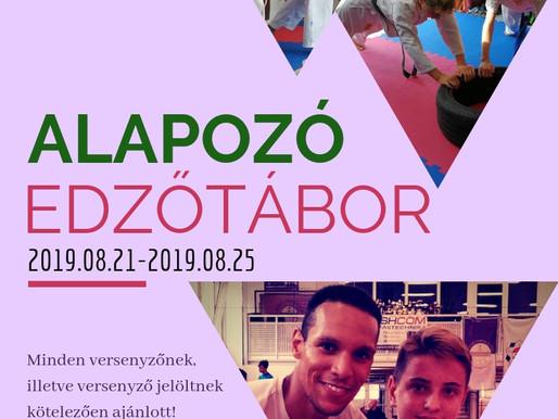 2019-ben újra Alapozó edzőtábor