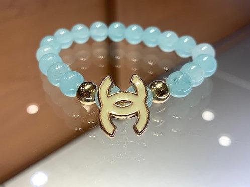 J'ADORE BLANC Bracelet (Aqua Jade)