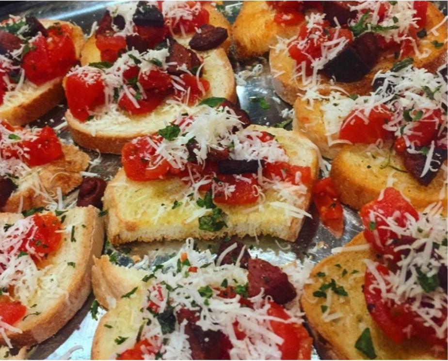 Italian Bruschetta appetizer