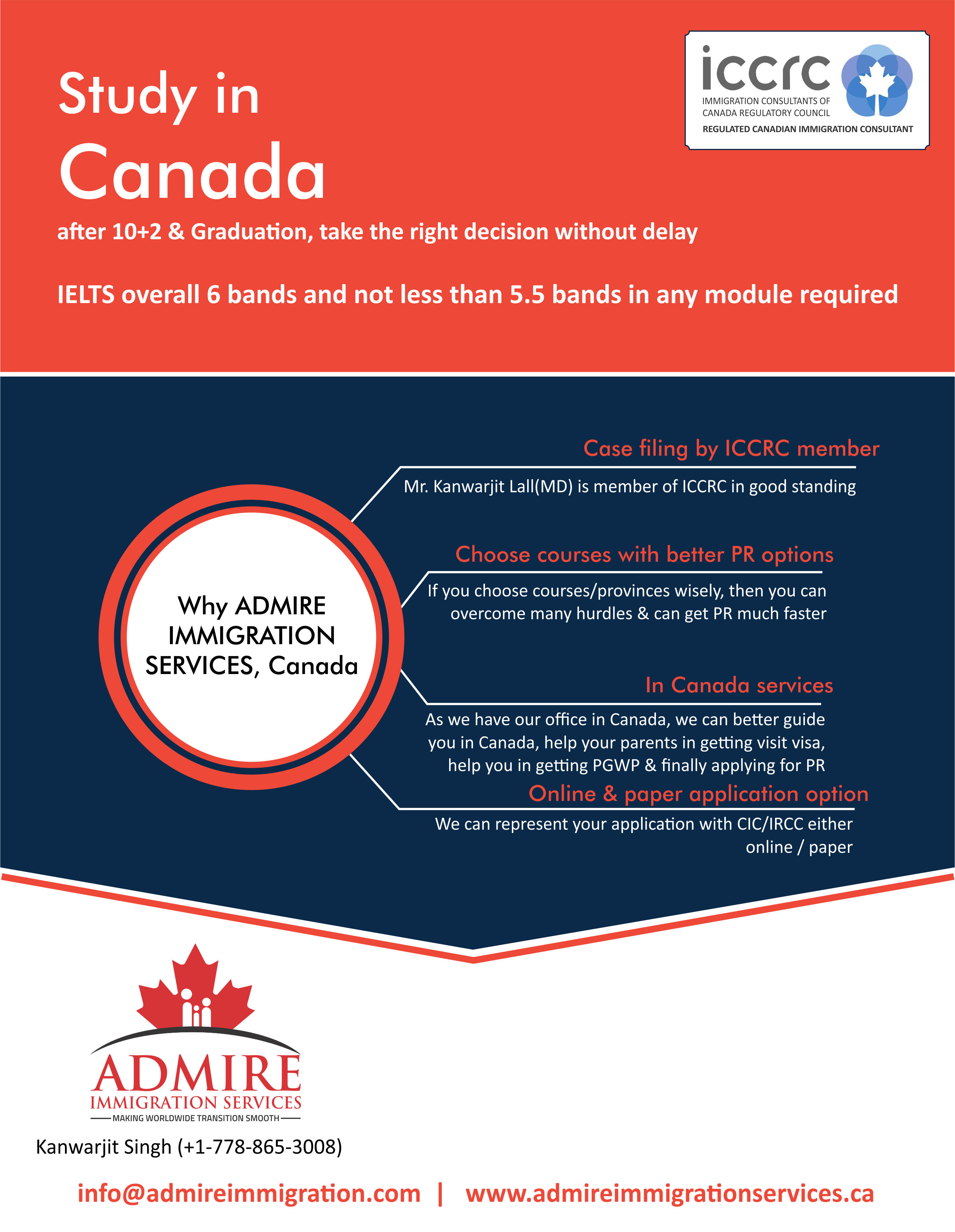 Admire Immigration Study in Canada