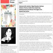 Press Release, La Llorona, Poetry and Prose by Olga Rosales Salinas