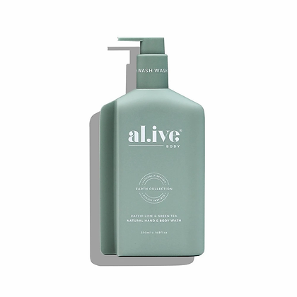 Hand and Body Wash in Kaffir Lime and Green Tea