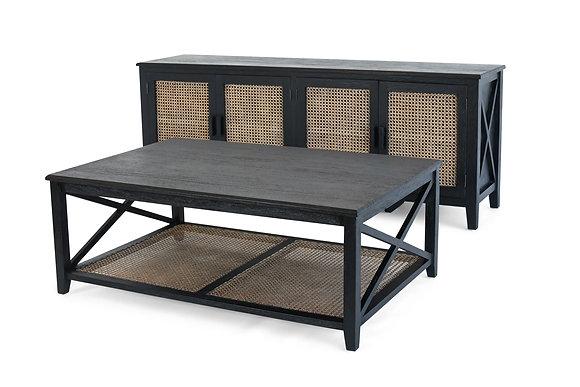 Rattan Coffee Table in Black - 148552