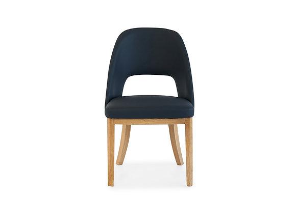 Dining Chair in Navy with Sundown Cinnamon Legs - 148384
