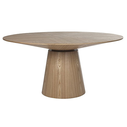 Classique Round Dining Table in Natural Oak