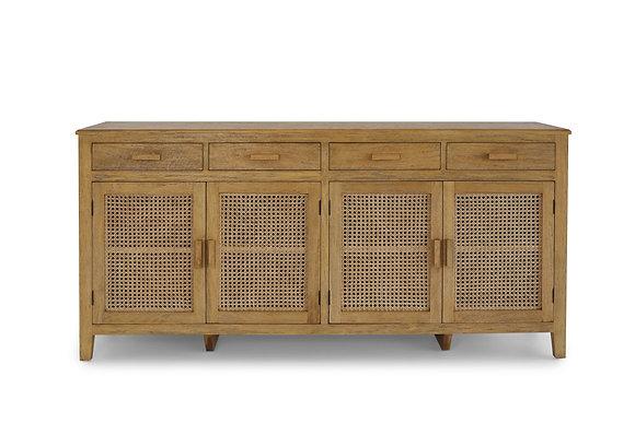 Rattan Sideboard 4 Drawer 4 Door - 146533