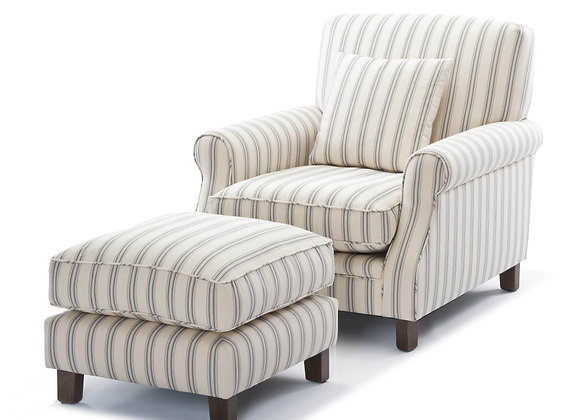 Purcell Chair and Ottoman