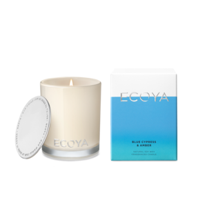 Blue Cypress & Amber Candle