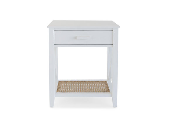 1 Drawer Bedside Cabinet in White - 147538