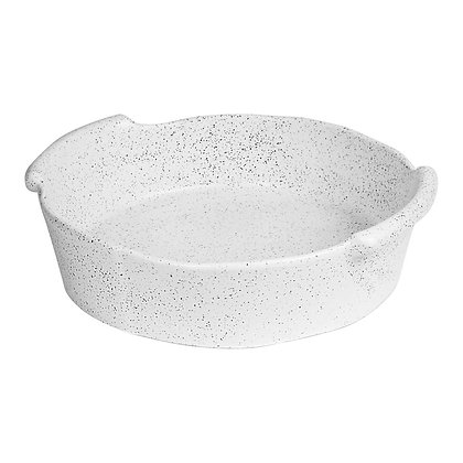 Baker Round - White Granite Feast