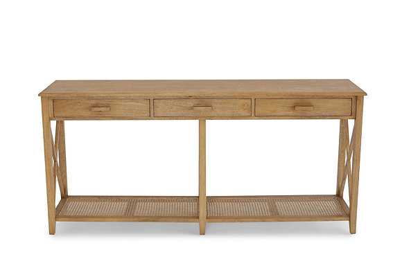 Rattan Console Table 3 Drawer - 146531