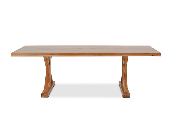 Dining Table in Natural Rough Sawn Top with Charcoal Legs - 147371