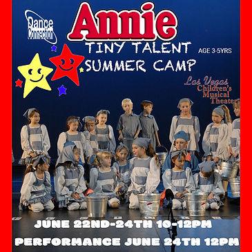 Annie Musical Theater Las Vegas Summer Camp