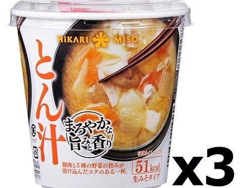 F14009 Hikari Miso  即沖杯裝味噌湯 ( 豚肉蔬菜 ) 52g 3pcs