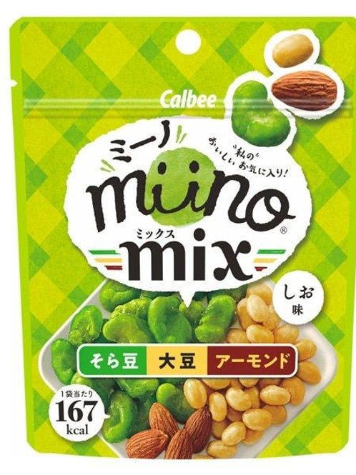 F13954 Calbee 卡樂B 雜豆餸酒小食 ( 蠶豆, 大豆, 杏仁 ) 29g 2pcs