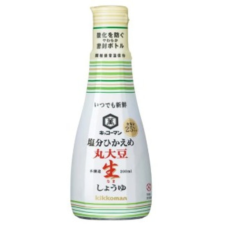 F11623 萬字丸大豆原味醬油(減鹽 25%) 200ml